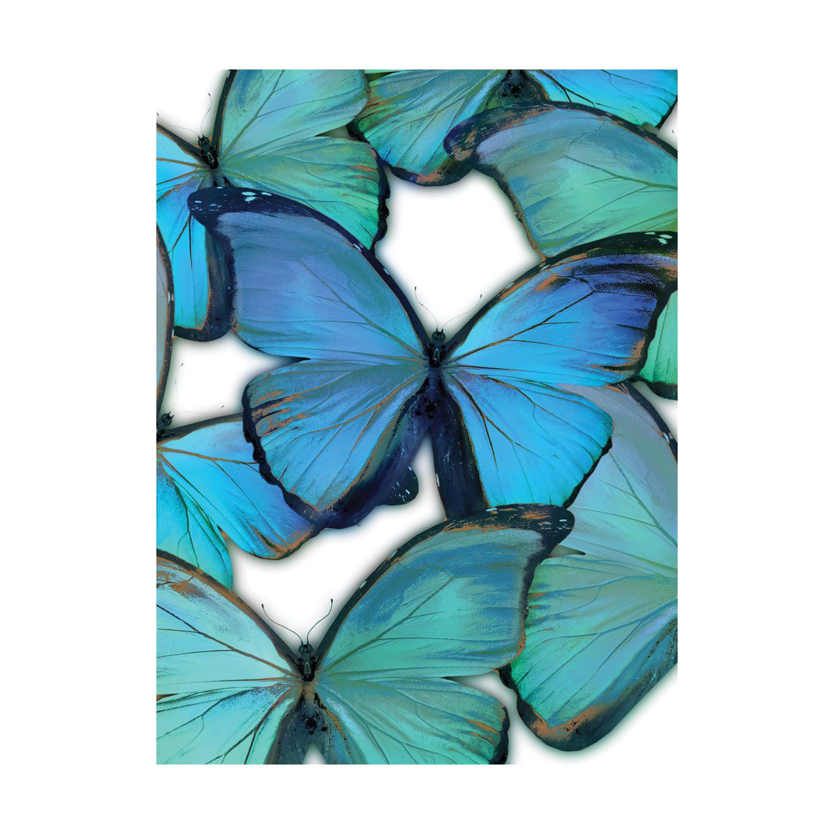 Picture of BLUE BUTTERFLYS WALL HANGING