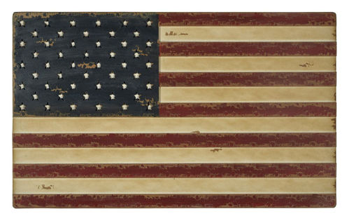 Picture of WOOD FLAG WALL HANGING