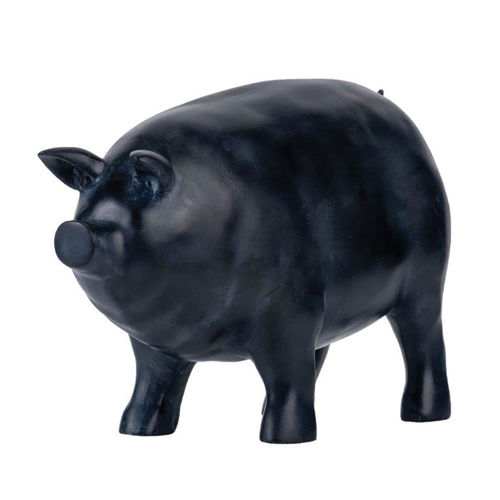 Picture of BLACK PIG STATUE