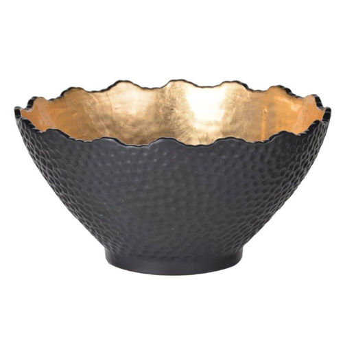 Picture of SMALL BLACK GILDED ACCENT BOWL