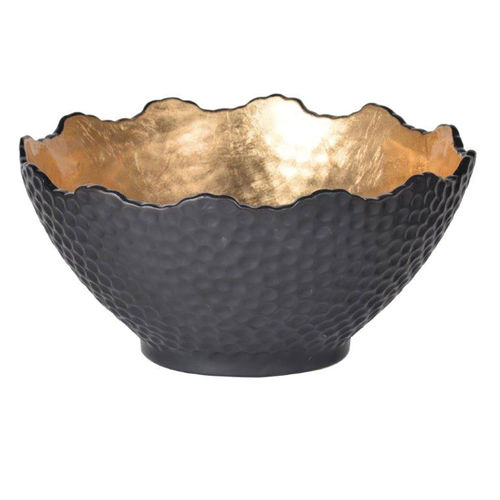 Picture of LARGE BLACK GILDED ACCENT BOWL