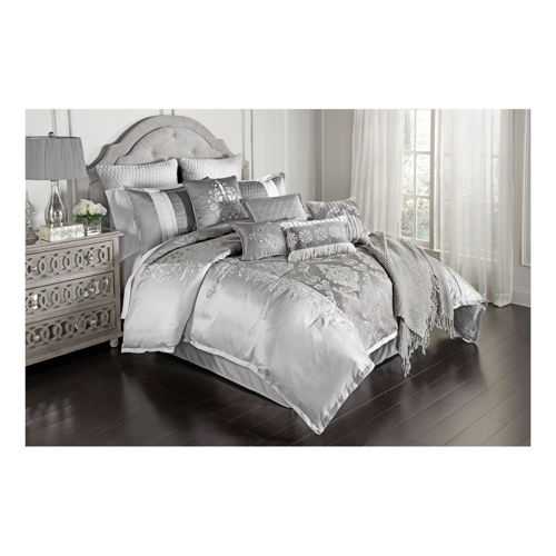 Picture of GLAM SILVER 12 PIECE KING LINEN SET