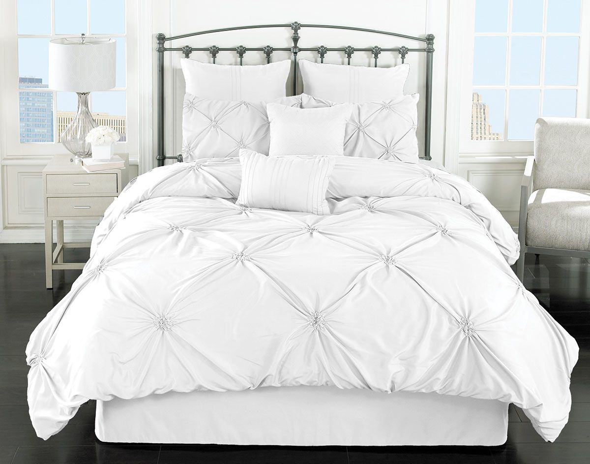 BEACHY WHITE 8 PIECE KING LINEN SET