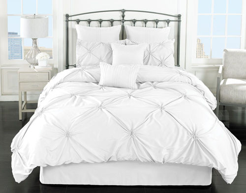 Picture of BEACHY WHITE 8 PIECE QUEEN LINEN SET