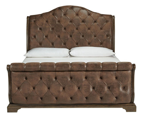 Picture of MERRIS COMPLETE QUEEN UPH SLEIGH BED