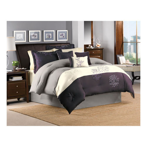 Picture of SOOTHING PURPLE 7 PIECE QUEEN LINEN SET