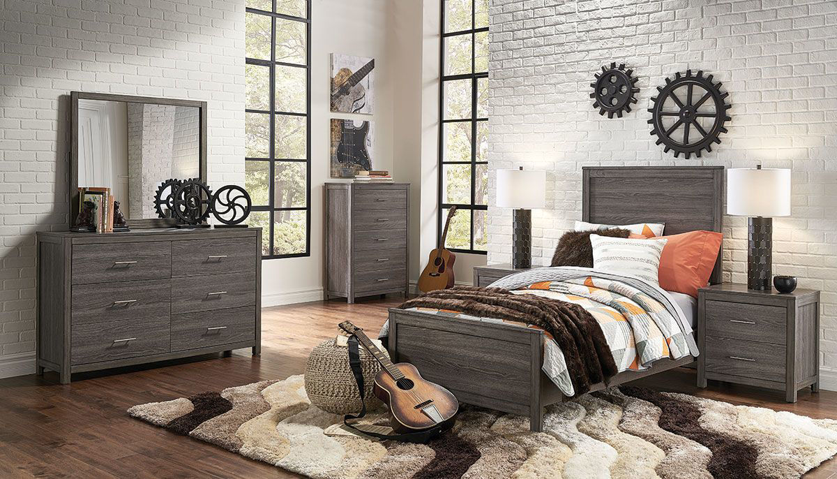 Lex 5 Piece Twin Bedroom Group Badcock Home Furniture More