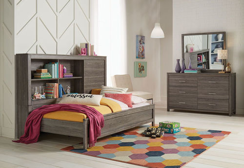 Picture of LEX 5 PIECE TWIN BOOKCASE DAYBED SET