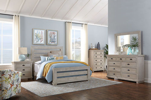 Picture of HOMESTEAD DOVE GREY 5 PIECE KING BEDROOM SET