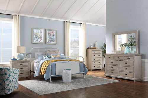 Picture of HARPER HOMESTEAD DOVE GREY 5 PIECE KING BEDROOM SET