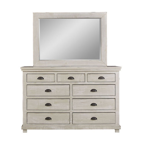 Picture of HOMESTEAD DOVE GREY DRESSER & MIRROR