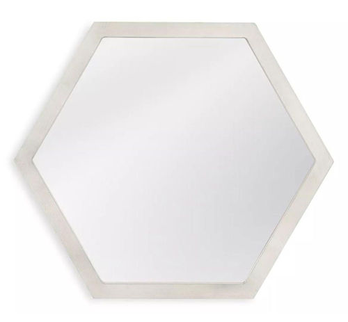 Picture of SILVER HEXAGON MIRROR