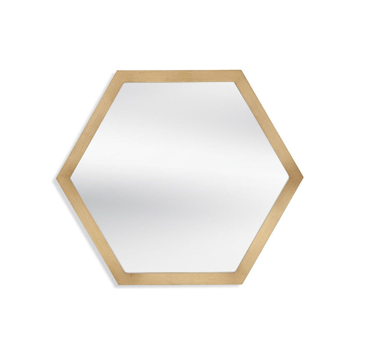 Picture of GOLD HEXAGON MIRROR