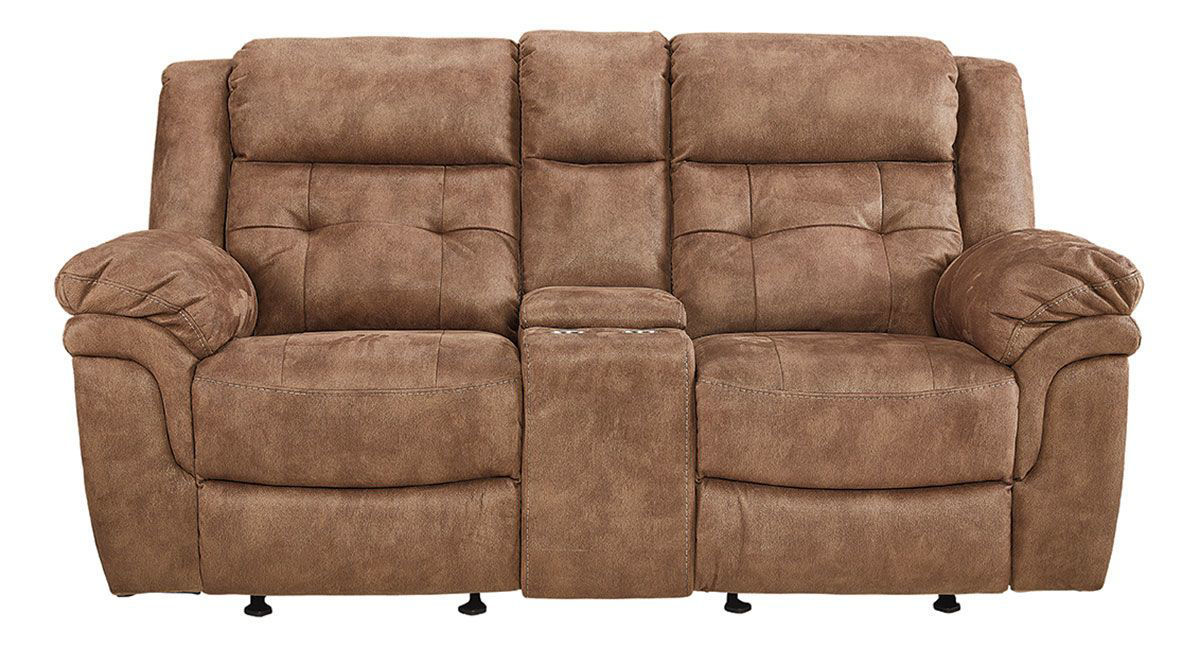 yuma recl console lvst  badcock home furniture more