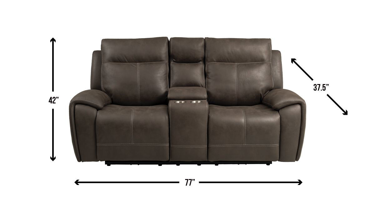 Picture of KNOX TRIPLE POWER RECLINER CONSOLE LOVESEAT