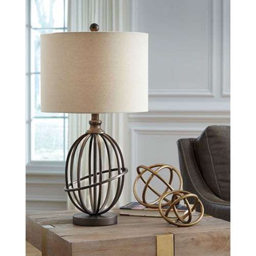 Picture of BRONZE METAL TABLE LAMP