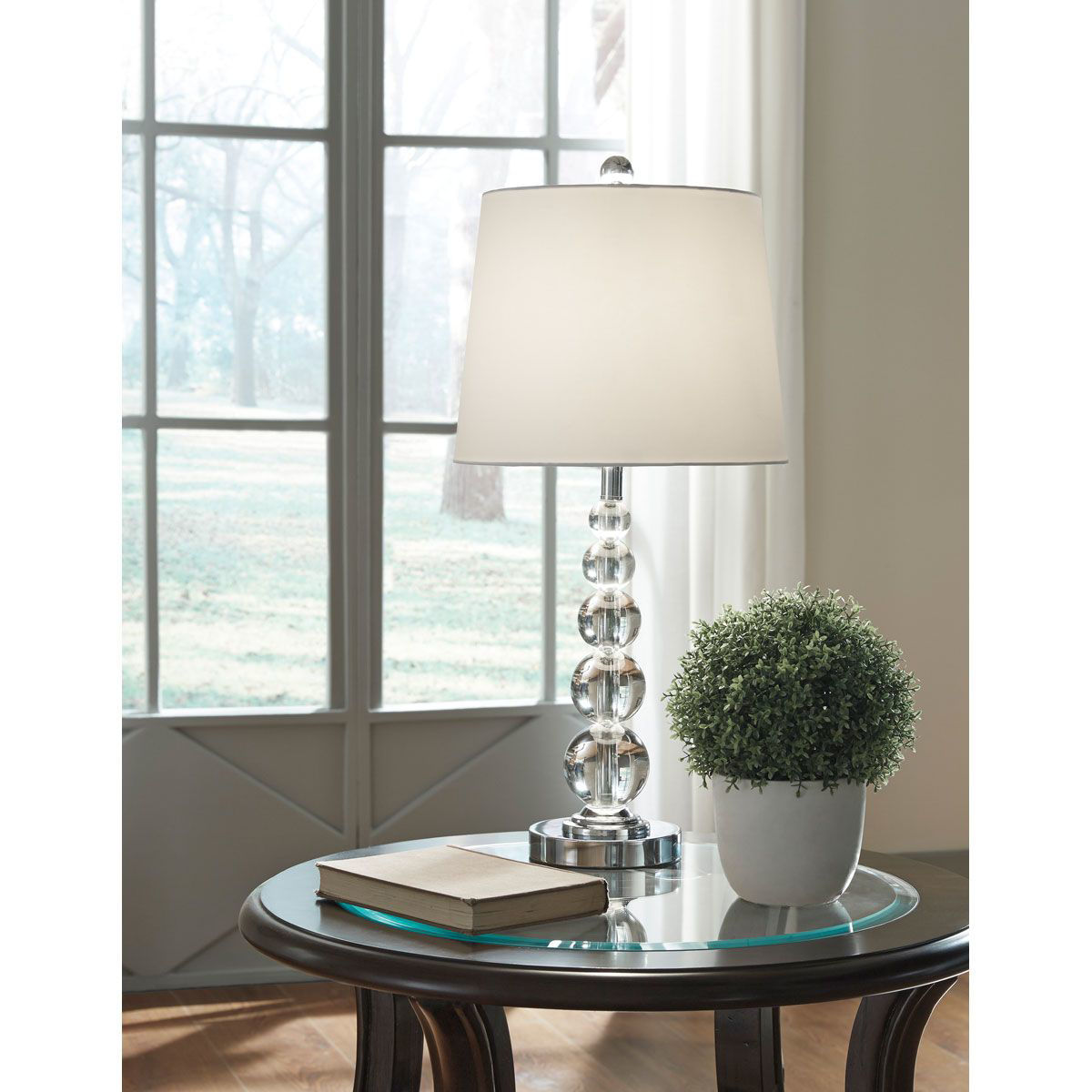 Picture of CRYSTAL GLOBE TABLE LAMP PAIR