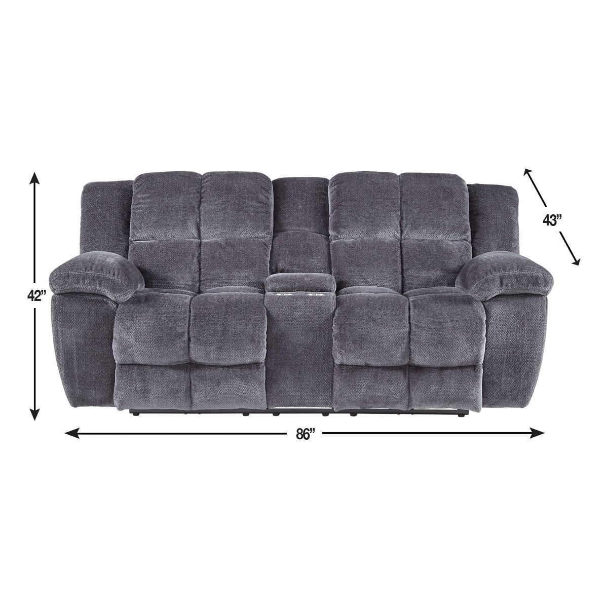 Picture of SHELBY RECLINING CONSOLE LOVESEAT