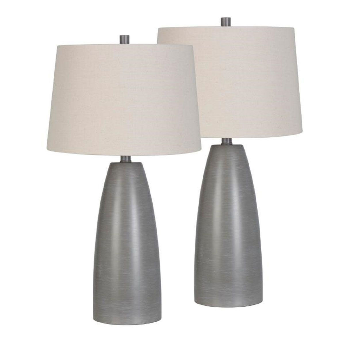 Picture of GREY TABLE LAMP PAIR