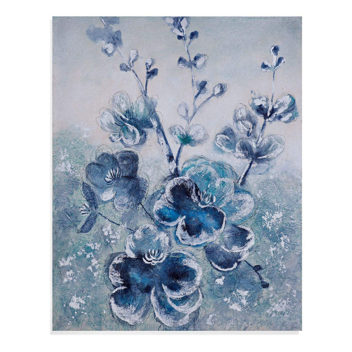 Picture of BLUE BLOOMS WALL ART