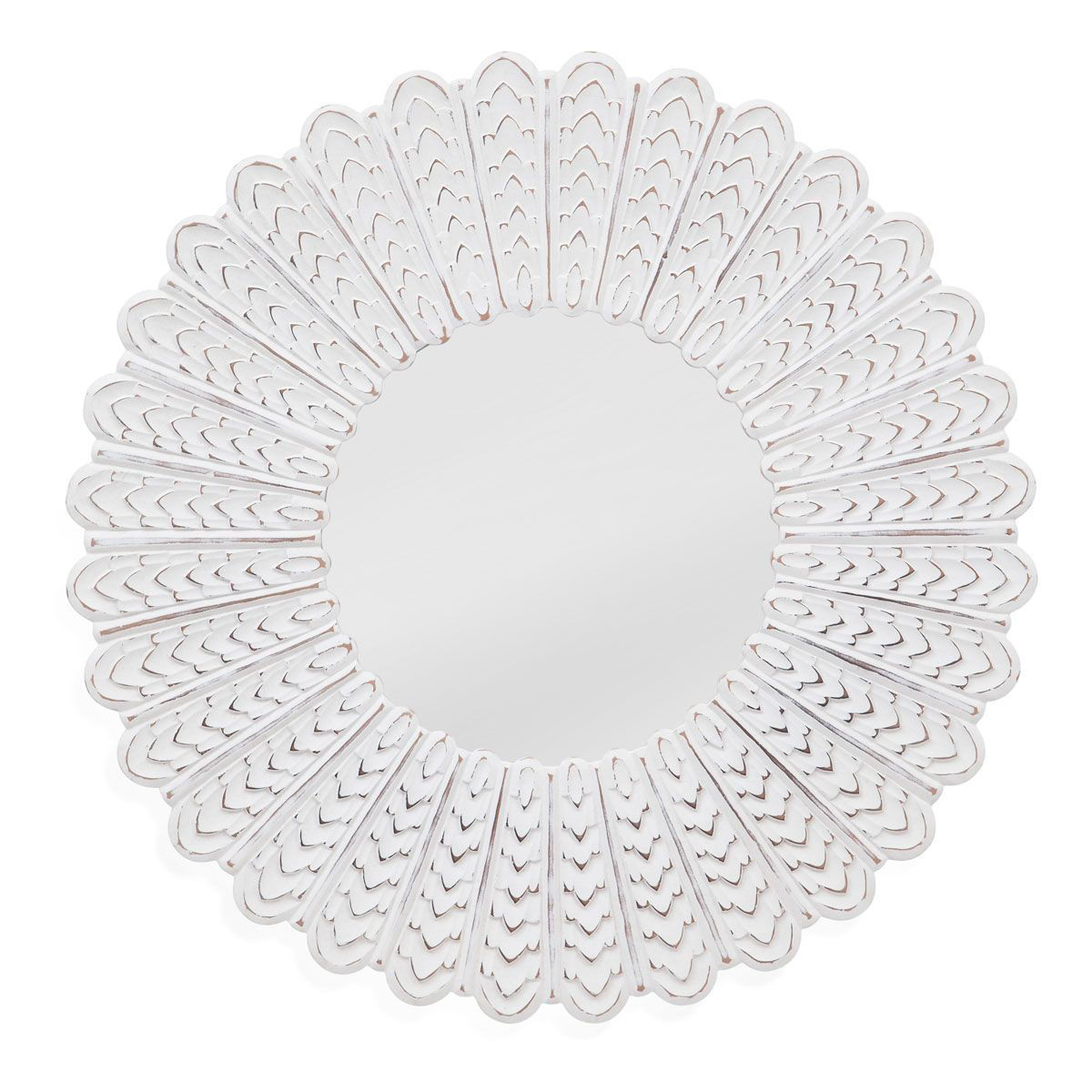 Picture of CHEVRON SUNBURST MIRROR