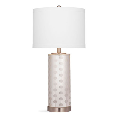 Picture of FROSTED MERCURY GLASS LAMP