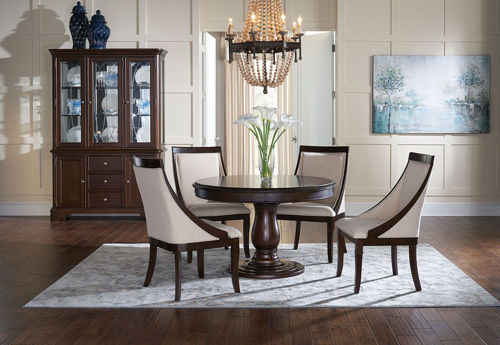 Picture of ANNYSTON ROUND PARSON 5 PIECE DINING SET