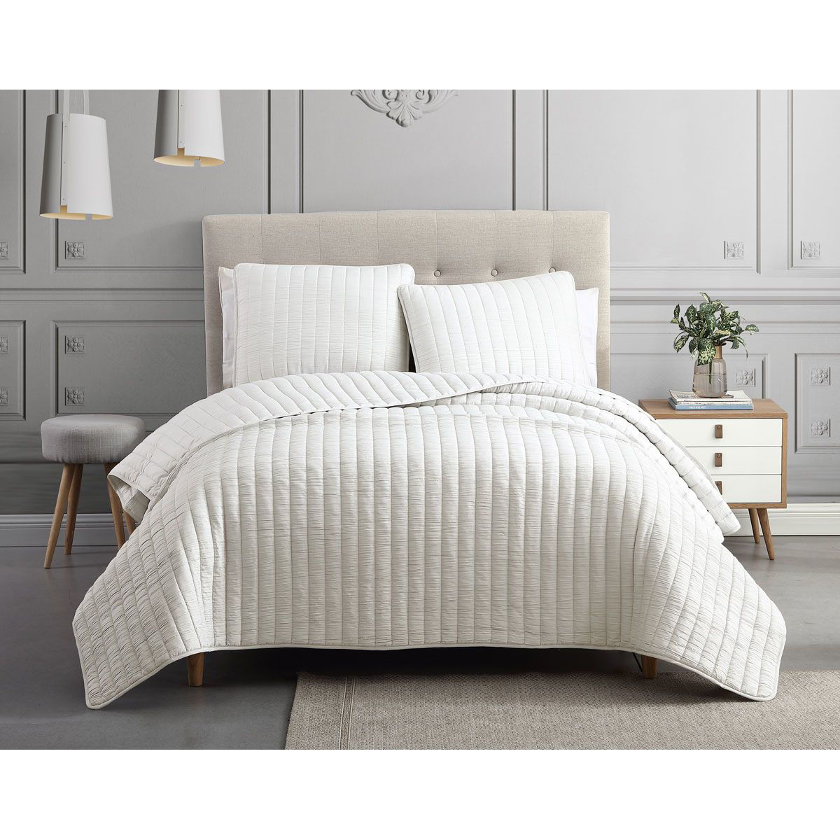 Picture of SUPER SOFT WHITE COVERLET SET