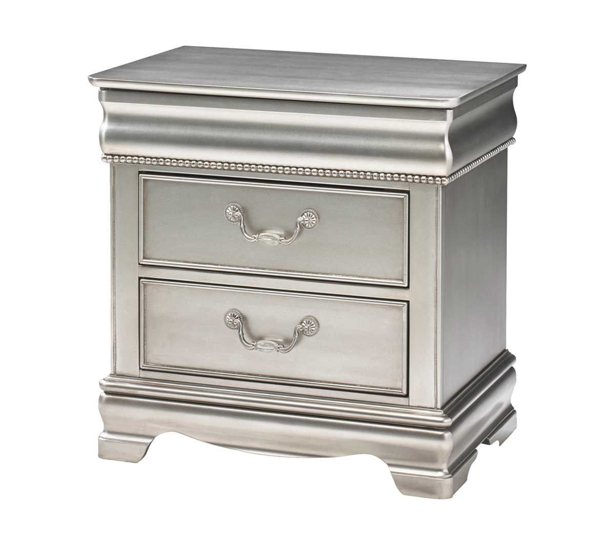 Picture of GRACE SILVER NIGHTSTAND