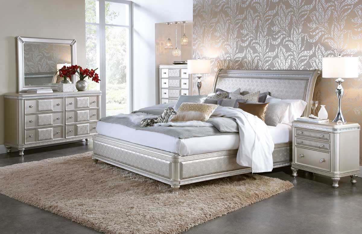 Picture of SILVER GLAM BEDROOM SET