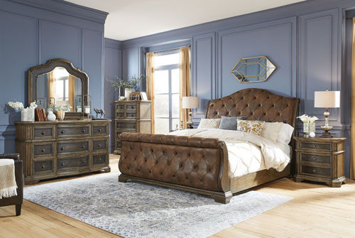 Picture of MERRIS UPHOLSTERED BEDROOM SET