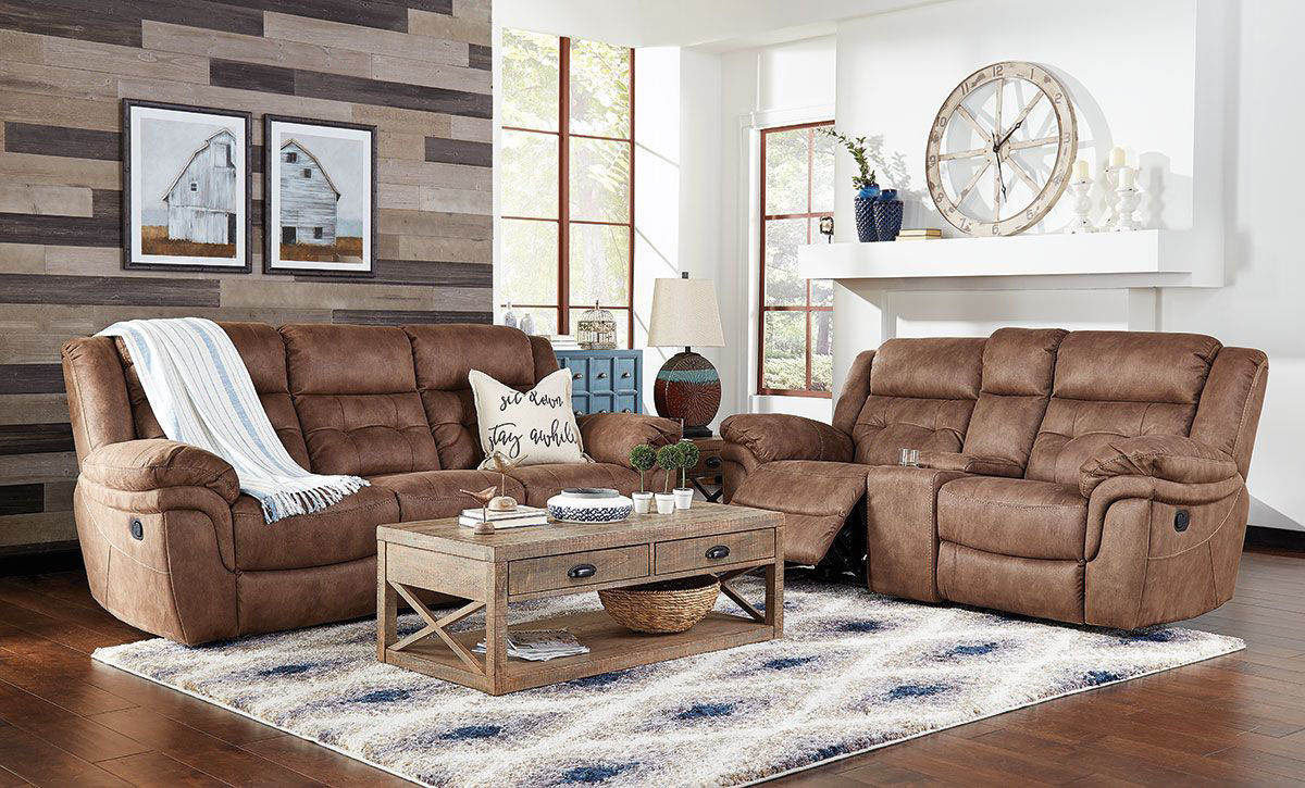 Picture of YUMA RECLINING CONSOLE LOVESEAT