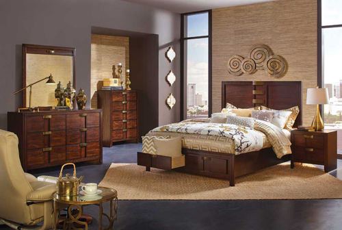 Picture of DIPLOMAT WITH STORAGE BEDROOM SET