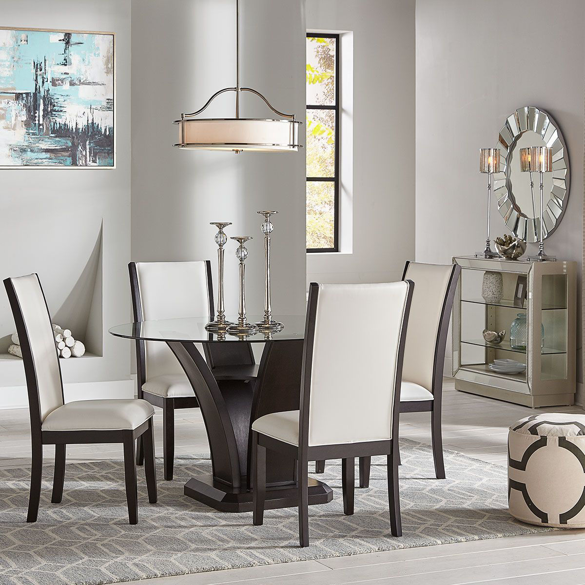 Tory 5 Pc Round Dining Set Badcock Home Furniture More