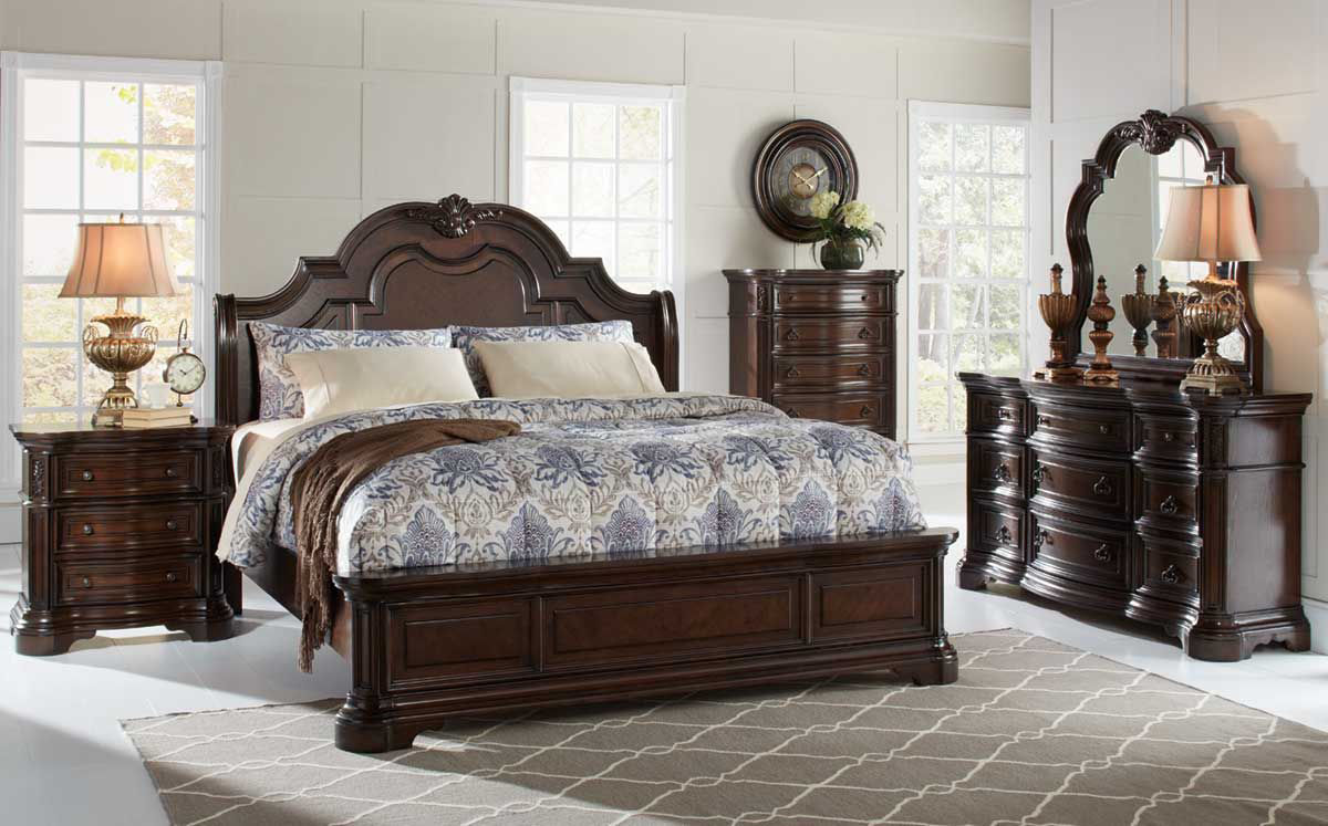 Alexandria 5 Pc Bedroom Group Badcock Home Furniture More,Picture Frame On Wall Free