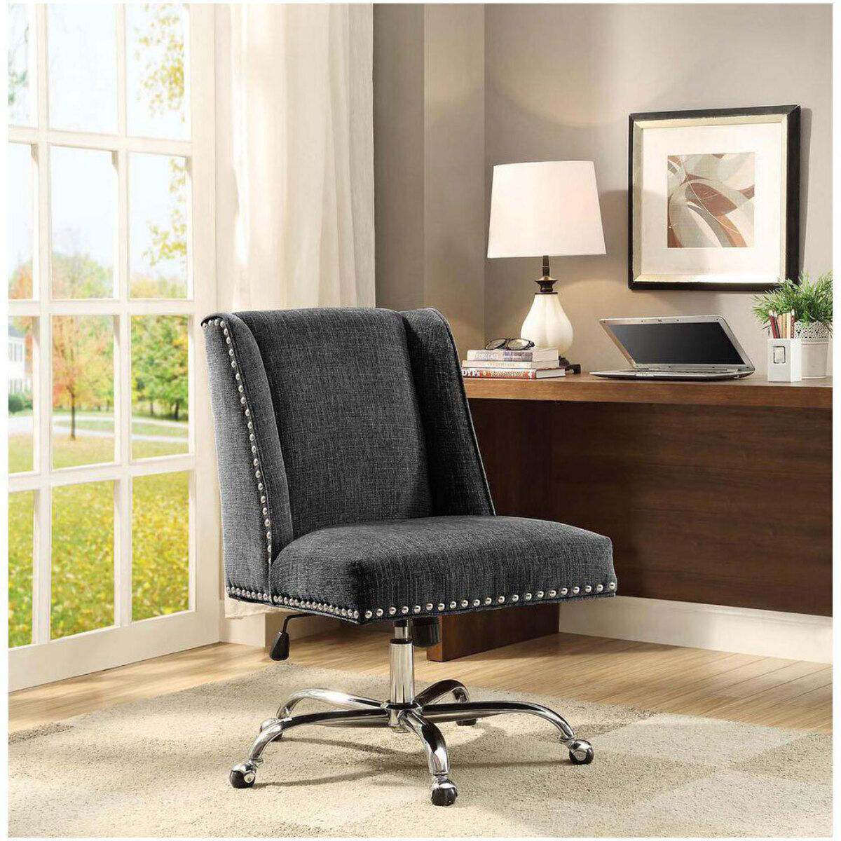 Picture of DRAPER CHARCOAL OFFICE CHAIR