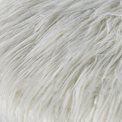 Picture of WHITE FAUX FUR STOOL