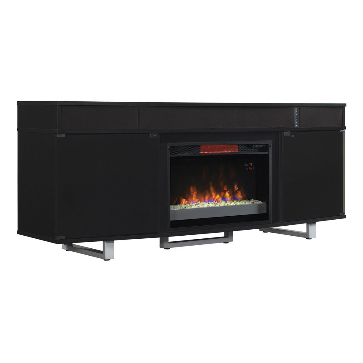 """Picture of ENTERPRISE II 72"""" FIREPLACE CONSOLE"""