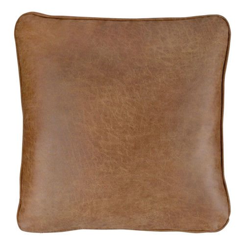 Picture of FAUX LEATHER THROW PILLOW