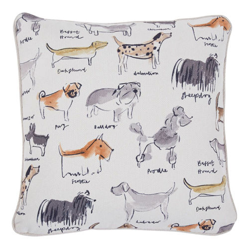 Picture of DOG PATTERN THROW PILLOW