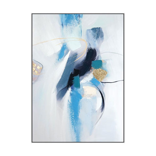 Picture of WALL ART BLUE ABSTRACT CANVAS