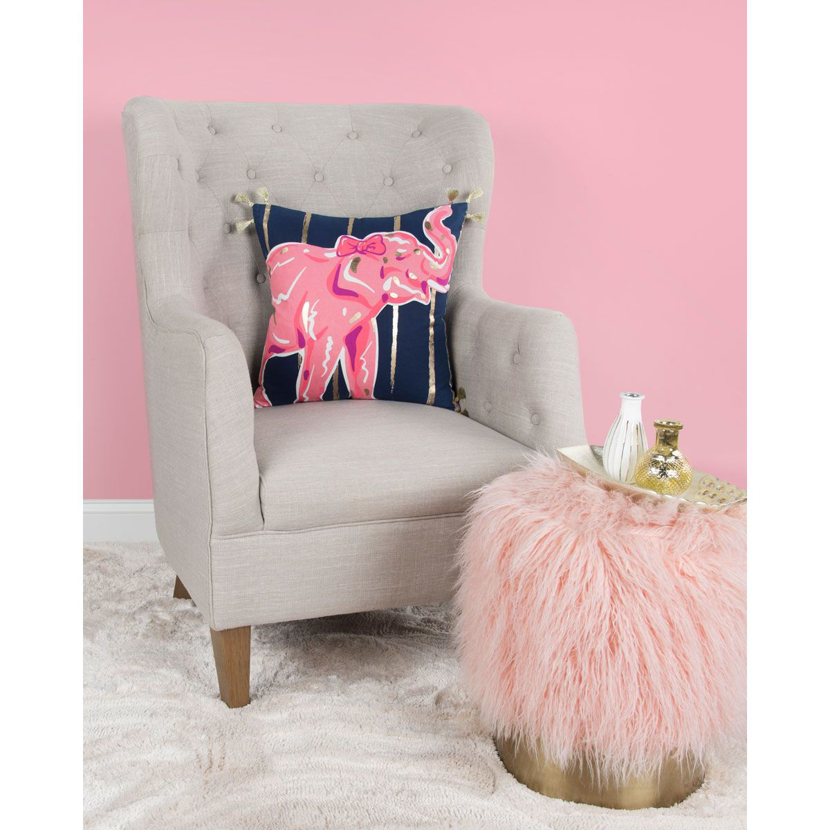 Picture of PINK ELEPHANT PILLOW