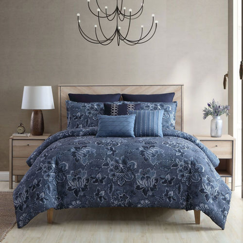 Picture of MELODY 8 PIECE QUEEN COMFORTER SET