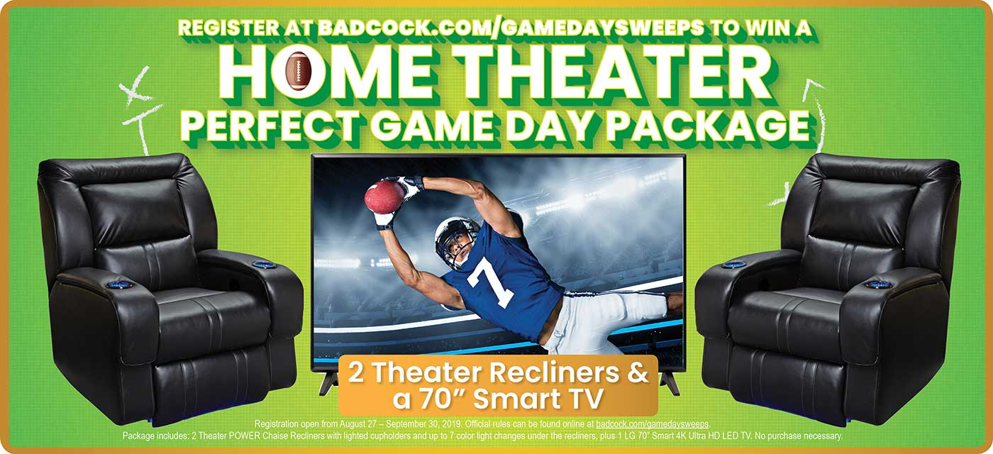 Register to win a Home Theater Perfect Game Day Package